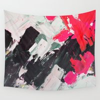 hot pink Wall Tapestries featuring Hot Pink Franz by Ann Marie Coolick