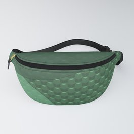Green creative modern abstract textured Fanny Pack