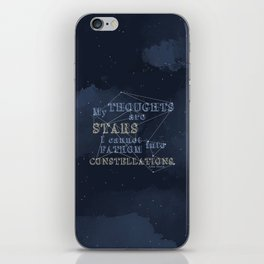 TFIOS - My Thoughts Are Stars iPhone Skin