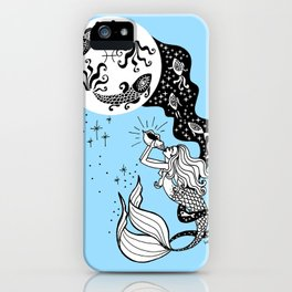 full moon in pisces iPhone Case
