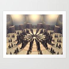 Pathway of Peaks Art Print