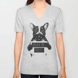 Rebel dog Unisex V-Neck