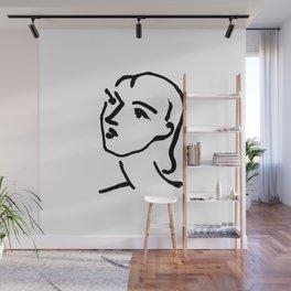 Matisse Line art Portrait Wall Mural