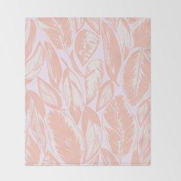 Calathea pale Throw Blanket
