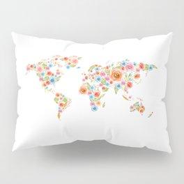 Watercolor Flower World Pillow Sham