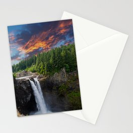 Snoqualmie Falls Early Morning Stationery Cards