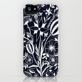 Indigo Blue Floral Bouquet iPhone Case