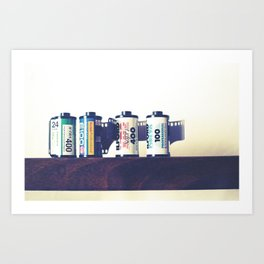 film cartridges old school (film photograph) Art Print