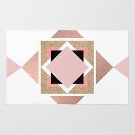 Carré rose Rug