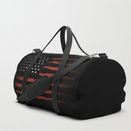 American flag Grunge Black Duffle Bag