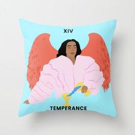 Solange - Black Girl Magic Temperance Tarot Card Throw Pillow