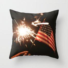 Happy America Throw Pillow