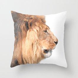 Lion Profile Throw Pillow