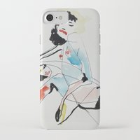 women iPhone & iPod Cases featuring Women by Beste Taş