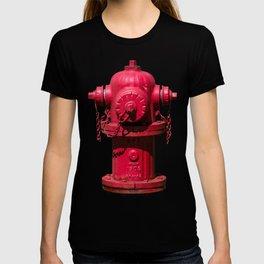 Red East Jordan Iron Works Fire Hydrant Fluted Fireplug T-shirt
