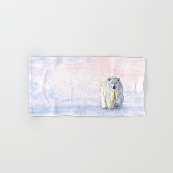 Polar bear in the icy dawn Hand & Bath Towel