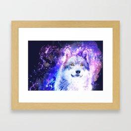 Cosmic Wolf Framed Art Print