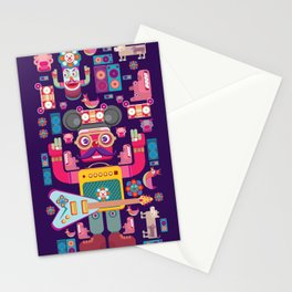 singpentinkhappy band Stationery Cards
