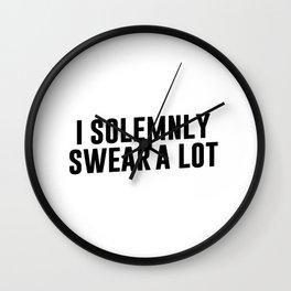 I Solemnly Swear A Lot Wall Clock