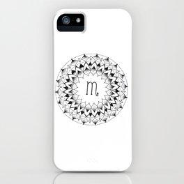Scorpio Zodiac Mandala iPhone Case