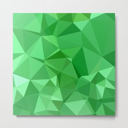 Inchworm Green Abstract Low Polygon Background Metal Print