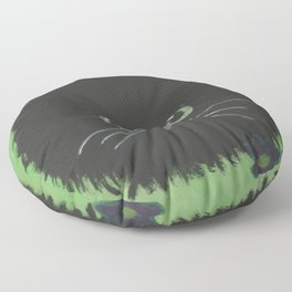 Paws amongst the flowers Floor Pillow