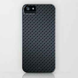 Slick and Stylish Matte Grey Oval Indented Pattern iPhone Case