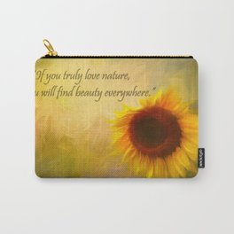Sunflower Love Carry-All Pouch