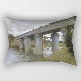 1874-Claude Monet-The Railroad bridge in Argenteuil -54 x 71 Rectangular Pillow
