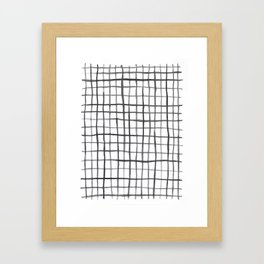 Grid Pattern Framed Art Print