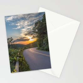 Blue Ridge Parkway Morning Sun Stationery Cards