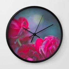 Fairie Red Roses Wall Clock
