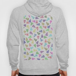 Hand painted pastel pink teal green watercolor triangles Hoody