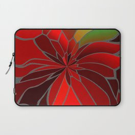Abstract Poinsettia Laptop Sleeve