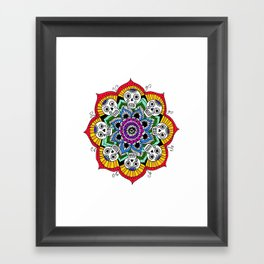 mandalavera de colores Framed Art Print
