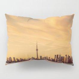 Golden Sunset Cityscape (Color) Pillow Sham