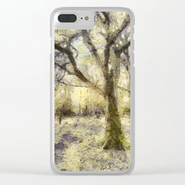 Summertime Forest Van Gogh Clear iPhone Case