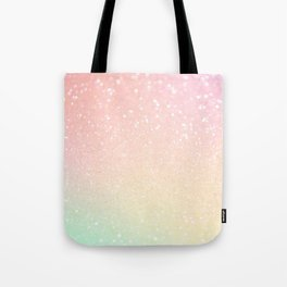 Glitter Pink Sparkle Ombre Tote Bag