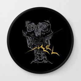 Mel Broken Skull Wall Clock