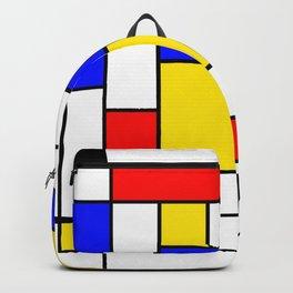 Mondrian Geometric Art 2 Backpack