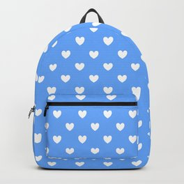 Hearts on Sky Blue Backpack