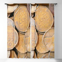 Watercolor Coins, Lincoln Wheat Pennies, 1938 04 Blackout Curtain