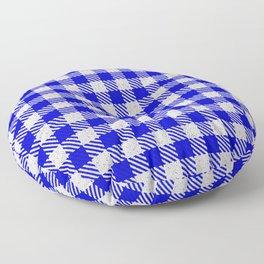 Medium Blue Buffalo Plaid Floor Pillow