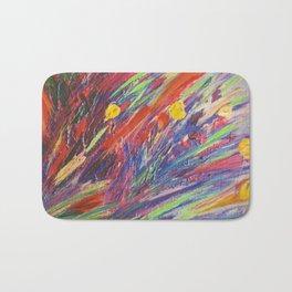Crazy Bright Contemporary Florals! Acrylics, Pastels and Mixed Media Prints Bath Mat