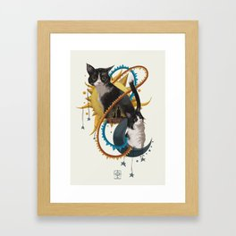 Sun and Moon Framed Art Print