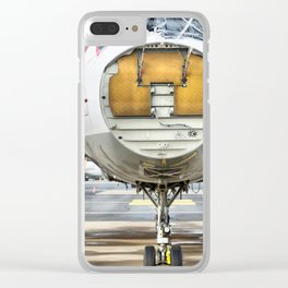 The broken plane at the airport Clear iPhone Case