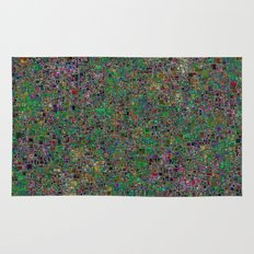 Mini Green and Purple Mini Mosaic Tile Rug