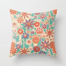 Motivo floral 2 Throw Pillow