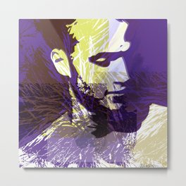 Portrait with nature elements Metal Print