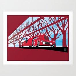 Vintage racer Art Print